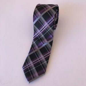 Men's Purple, Gray, and Black Tie